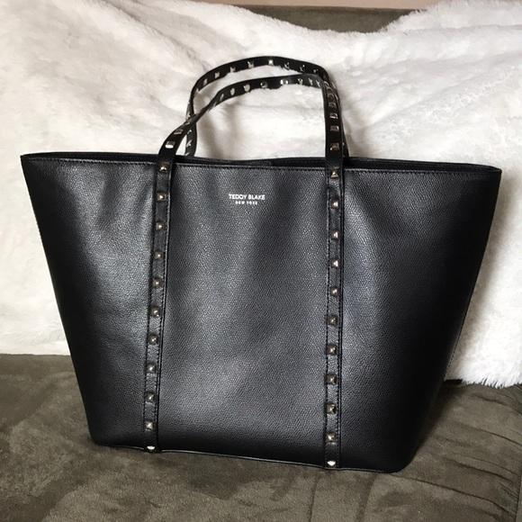 4575899017e9e Teddy Blake Black Leather Designer Tote Bag